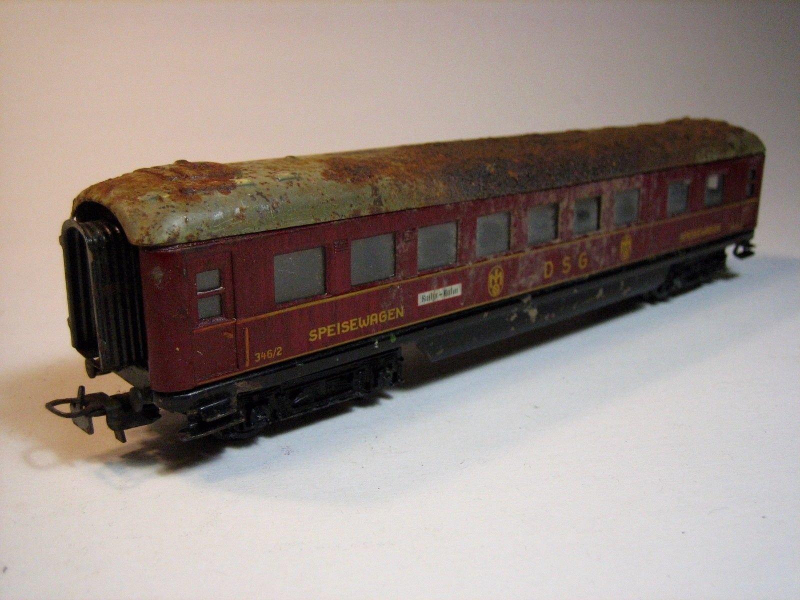 MA401 MÄRKLIN 346/2 (4008).6 (1954 ONLY) RED 'DSG' DINING CAR