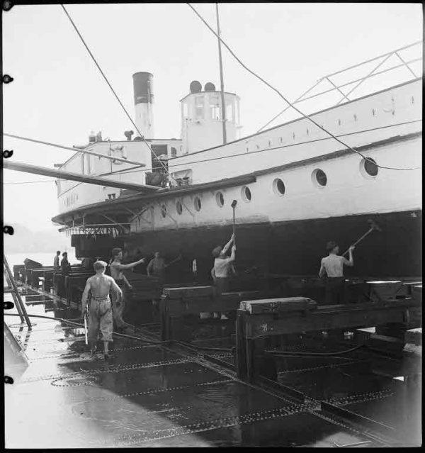 Staatsarchiv Luzern (ISIL CH-000076-6) FDC 76/1155.4, R556: Dampfschiff Rigi, 8/27/1945 - 8/28/1945