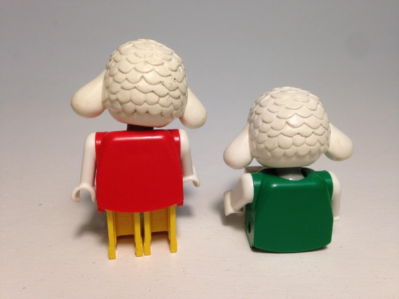 LE019 LEGO 2x FABULAND SHEEP/LAMB FIGURES
